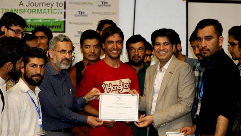 Nauman Khan Azeemi Certification Distribution Student